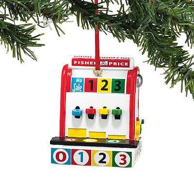 Dept 56 2014 Fisher Price Cash Register Ornament #4040600 NEW FREE SHIP OFFER