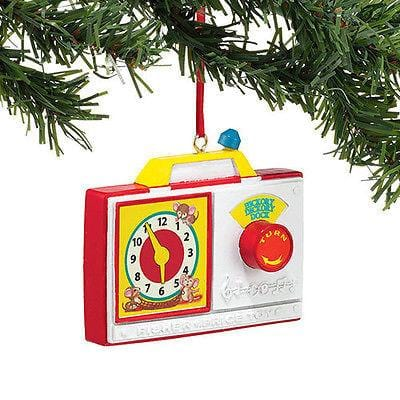 Dept 56 2014 Fisher Price Radio Clock Ornament #4040599 NEW FREE SHIP 48 STATES