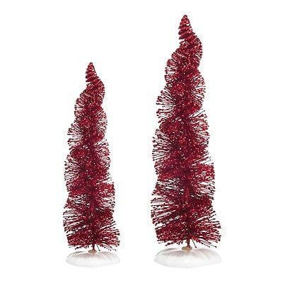 Dept 56 2014 Spiral Ruby Trees Set/2 #4038836 NIB FREE SHIPPING 48 STATES
