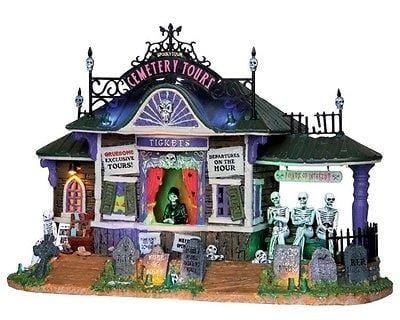 Lemax 2013 Spookytown Cemetery Tours #25327 NIB FREE SHIPPING
