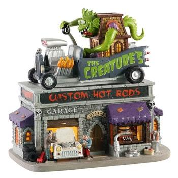 Lemax The Creature's Custom Hot Rod Shop   #05611