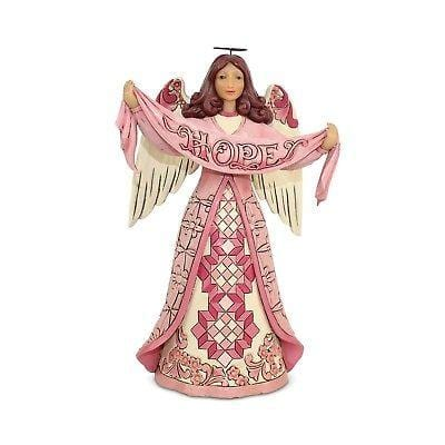 Jim Shore HWC 2018 Hope Breast Cancer Awareness Angel #6002800 NIB FREE SHIP   2018