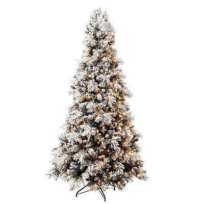 Hallmark 7.5' Sugared Pre-lit Christmas Tree New BEAUTIFUL CLEARANCE CLEARANCE