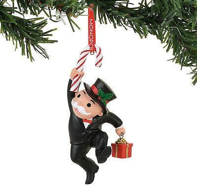 Dept 56 2017 Hasbro Mr. MOnopoly w/Candy Cane Ornament #4057985    FREE SHIP