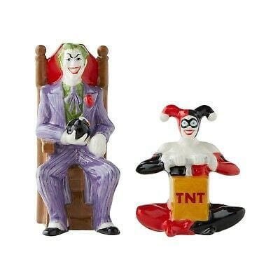 Enesco DC Comics Salt & Pepper Shakers Joker & Harley Quinn #6003882 Free Shipping 2019