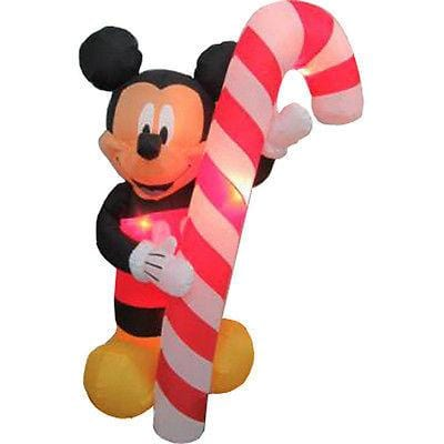 Gemmy 6' Mickey Mouse w/Candy Cane NEW FREE SHIPPING CLEARANCE
