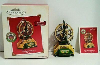 Hallmark Ornament 100 Years Crayola Crayons Ferris Wheel NIB FREE SHIP 48 STATES