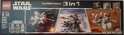 Lego Star Wars Microfighters 3 In 1 Super pack #66533 & #66534 NEW FREE SHIP 48