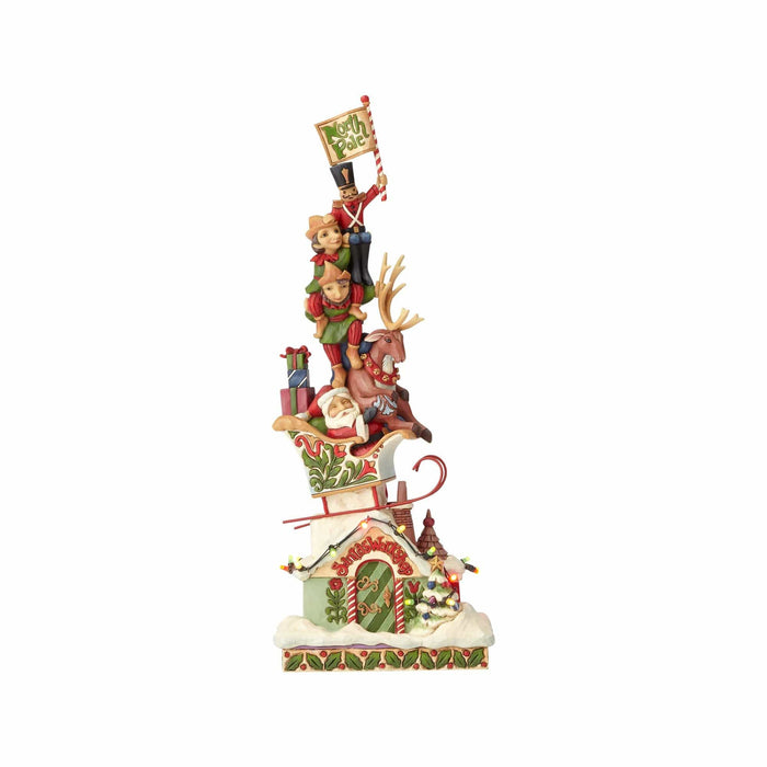 Jim Shore Lighted Stacked Christmas    Free Shipping 48 States