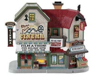 Lemax 2018 Stone Creek Cinema #85332 NIB FREE SHIPPING 48 STATES