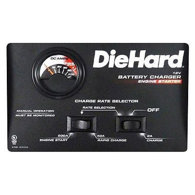 DieHard Manual Battery Charger w/Engine Starter DH830 NEW