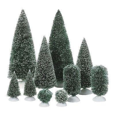 Dept 56 Bag-O-Frosted Topiaries Set/10 #52996 NEW FREE SHIPPING 48 STATES