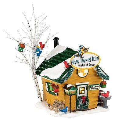 Dept 56 Snow Village 2014 Tweet Wild Bird Store #4036569 NIB FREE SHIP 48 STATES