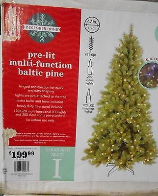 7' Baltic Pine Pre-Lit Clear Lig NIB FREE SHIPPING 48 STATES CLEARANCE