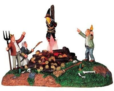 Lemax Halloween Witch Burning #94962  Free Shipping 48 States