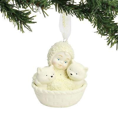 Dept 56 Snowbabies 2018 Basket Of Kittens Ornament #6001988 NEW FREE SHIP 48 STA   2018