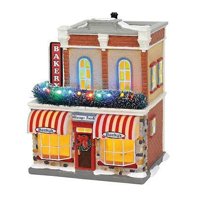 Dept 56 Snow Village 2018 Main Street Bakery #6002297 NIB   Free Shipping 48 States