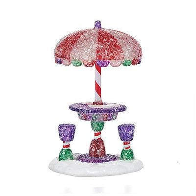 Dept 56 2015 Gumdrop Park Cafe' Table #4047575 NIB FREE SHIPPING 48 STATES