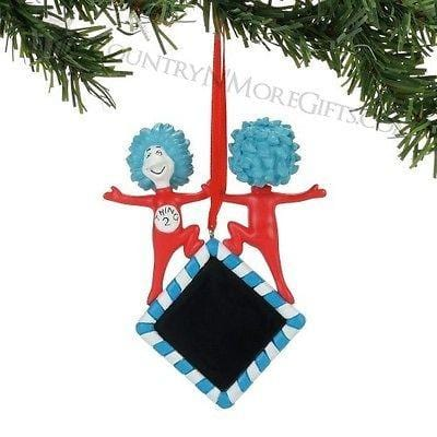 Dept 56 2017 Dr. Seuss Thing 1 & 2 Personalized Ornament #4057501   FREE SHP