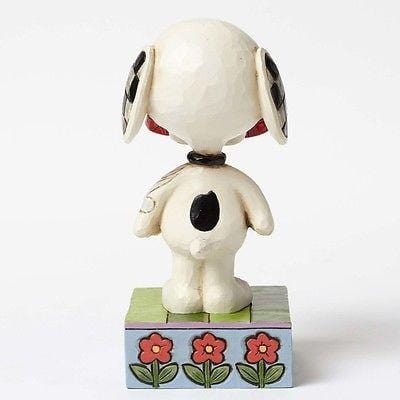 Jim Shore Peanuts 2015 Snoopy Holding Dog Dish #4049411 NIB FREE SHIP 48 STATES