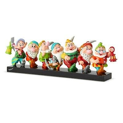 Disney By Britto Seven Dwarfs On Log #6001300 NIB . Free Shipping 48 States