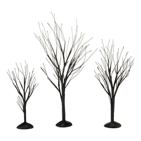 Dept 56 Halloween 2013 Black Bare Branch Trees Set/3 #4033851    FREE SHIPPING