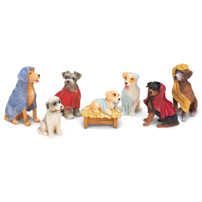 Roman 7 pc Dog Nativity w/ Blanket Robes Set  #132229  Free Shipping