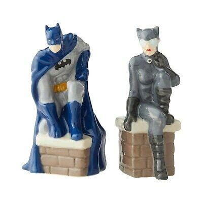 Enesco DC Comics Salt & Pepper Shakers Batman & Catwoman #6003735 Free Shipping 2019