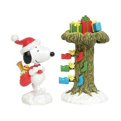 Jim Shore Peanuts 2019 Santa Snoopy Delivering Gifts #6011085 Free Shipping 48 States 2019
