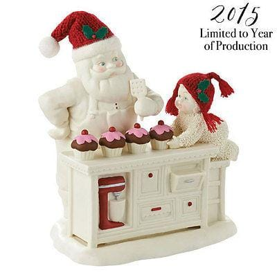 Dept 56 Snowbabies 2015 Baking In The Kitchen W/Santa #4045667 NIB FREE SHIPPING