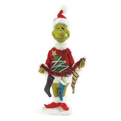 "Dept 56 Grinch 2015 Mr. Grinch 30"" Tall #4046609 NIB"