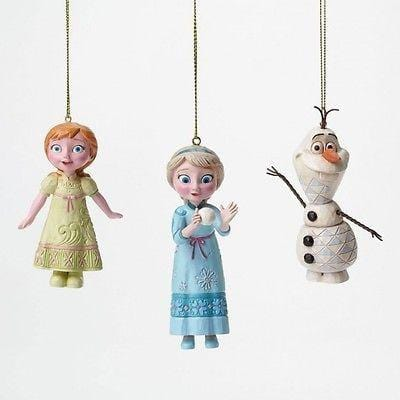 Jim Shore Disney Traditions 2015 Frozen Ornament Set/3 #4046062 NIB FREE SHIP 48