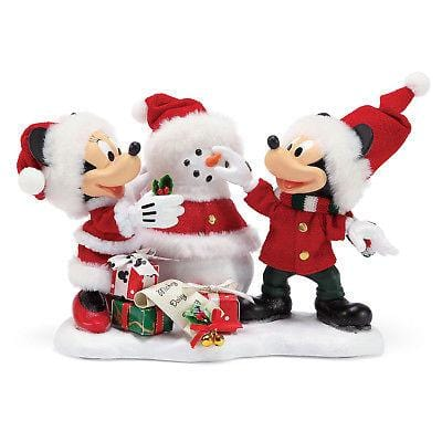 Possible Dreams Clothtique 2018 Mickey/Minnie Snow Santa #6000684  Free Shipping 48 States  2018