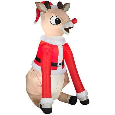 Gemmy Inflatable Rudolph 5' Lighted NEW CLEARANCE