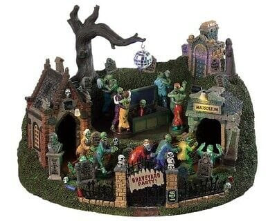 Lemax Halloween 2019 Graveyard Party #94488 Free Shipping 48 States 2019