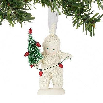 Dept 56 Snowbabies 2016 Lighting The Tree Ornament #4051942 NIB FREE SHIP 48 STA