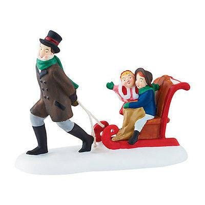 Dept 56 Dickens Sledding At The Fair