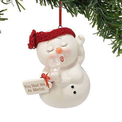 Dept 56 Snowpinions 2014 You Had Me At Merlot Ornament #4039417 NIB FREE SHIP