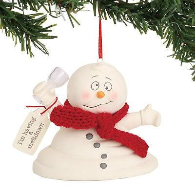 Dept 56 Snowpinions 2018 I'm Having A Meltdown Ornament #6001177 NEW FREE SHIP   2018