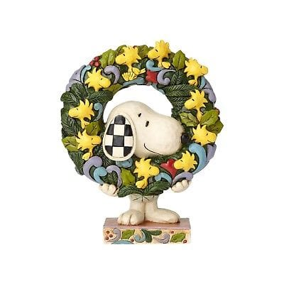 Jim Shore Peanuts 2018 Snoopy w/Woodstock Wreath #6000984    FREE SHIP 48 STATE    2018