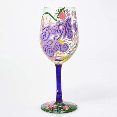 Lolita Wine Glasses Best Mom Ever #GLS11-5533K NIB FREE SHIPPING 48 STATES