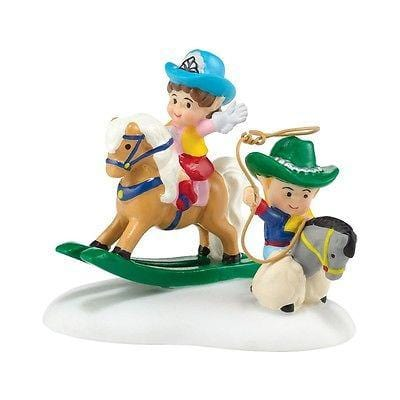 Dept 56 North Pole 2014 Cowboy Kids #4036552 NIB FREE SHIPPING 48 STATES