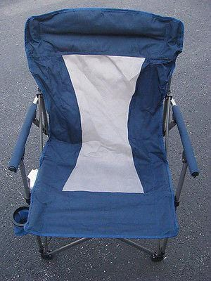 Oversize Adult Folding Arm Chair Navy FREE SHIPPING OFFER 48 STATES