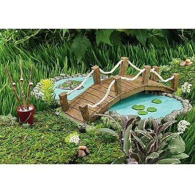 Dept 56 Garden 2015 Garden Bridge & Fishing Poles #4051167 NEW FREE SHIP 48 STAT
