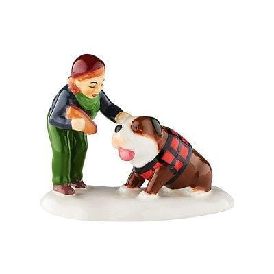 Dept 56 Snow Village 2016 Dog For The Dog #4050994 N IB FREE SHIPPING 48 STATES
