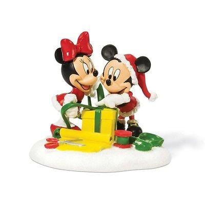 Dept 56 Disney Mikey & Minnie Wrapping Gifts #811276 NIB FREE SHIPPING 48 STATES