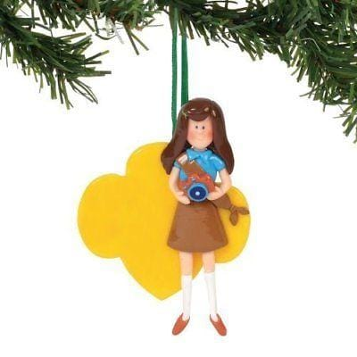 Dept 56 Girl Scout 2018 Brownie Personalizablee Ornament #6000381 NEW FREE SHIP  2018