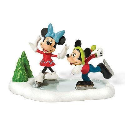 Dept 56 Disney Mickey & Minnie Go Skating #811274 NIB FREE SHIPPING 48 STATES