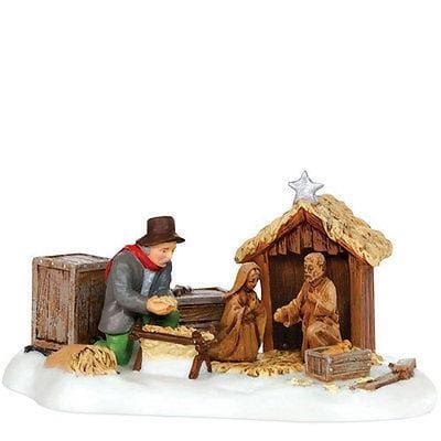 Dept 56 New England Setting Up The Nativity #807247 NEW FREE SHIPPING 48 STATES