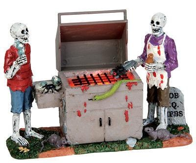 Lemax 2017 Halloween Gory Grillin #54912 NIB FREE SHIPPING 48 STATES